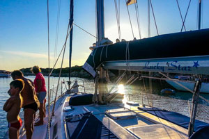 Eté 2014 à bord du voilier de location Luckystar