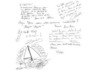 Livre d'or - Location voilier Corse
